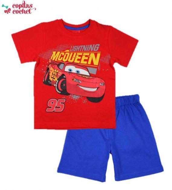 Pijamale de vara Cars (rosu-albastru) 1