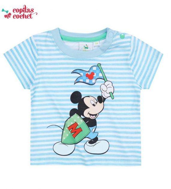 Tricou bebe Mickey Mouse (dungi) 1