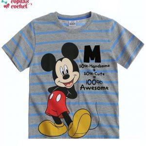 Tricou Mickey Mouse (gri dungi) 1