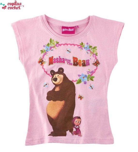 Tricou Masha si Ursul (roz) 1