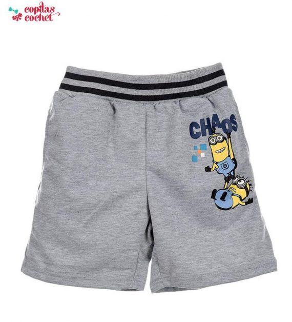 Pantaloni srti Minions (gri) 1