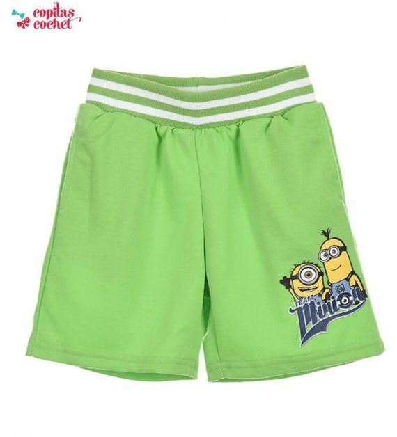 Pantaloni srti Minions (verde) 1