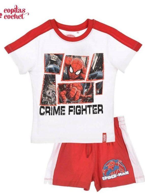 Compleu de vara Spiderman (alb-rosu) 1