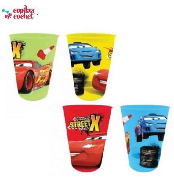 Set 4 pahare plastic Fulger McQueen 1