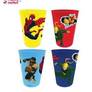 Set 4 pahare plastic Spiderman 1