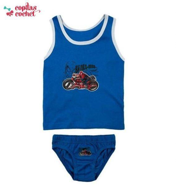 Set maieu chilotei Spiderman (albastru) 1