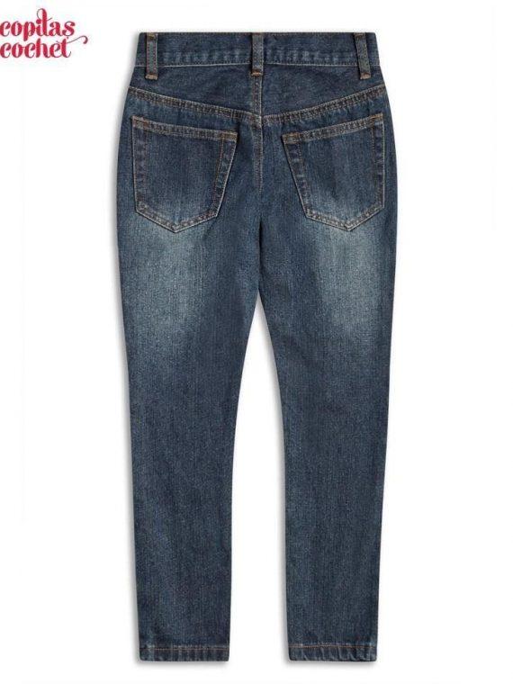Pantaloni blugi bleumarin 1