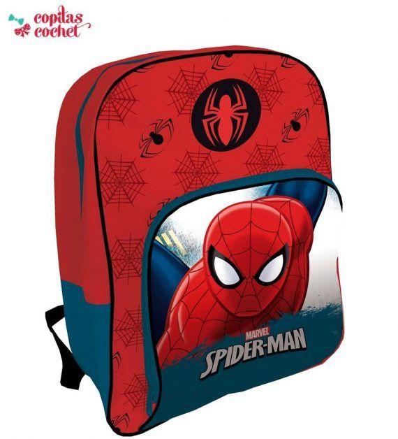 Ghiozdan Spiderman (rosu-albastru)42 cm 1