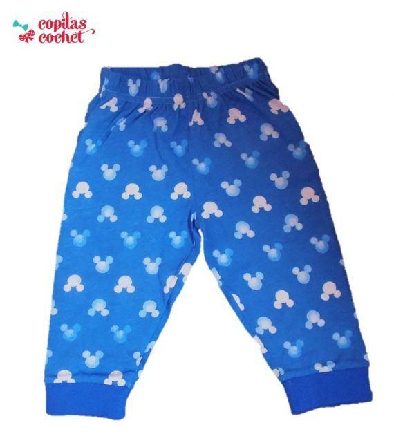 Pijamale bebe Mickey Mouse (albastru)in tie