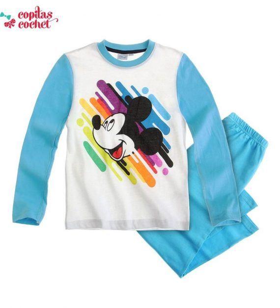Pijamale Mickey-Mouse (alb-albastru) 1