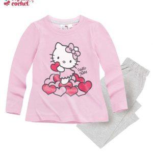 Pijamale Hello-Kitty (roz-gri) 1