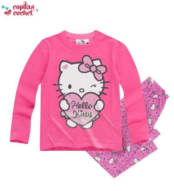 Pijamale Hello-Kitty (roz) 1