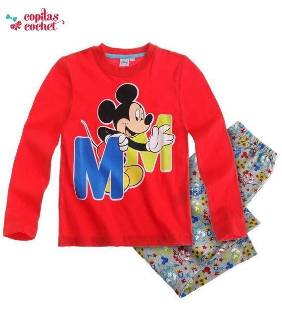 Pijamale Mickey-Mouse (rosu) 1