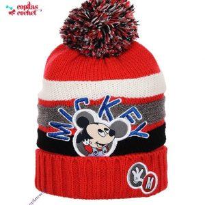 Caciula bebe Mickey Mouse (rosu) 1