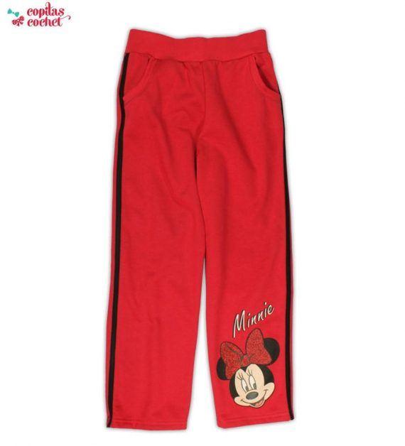 Pantaloni trening Minnie Mouse (rosu) 1