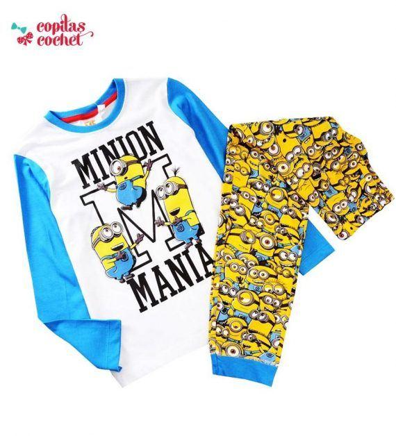 Pijamale Minions (albastru) 1
