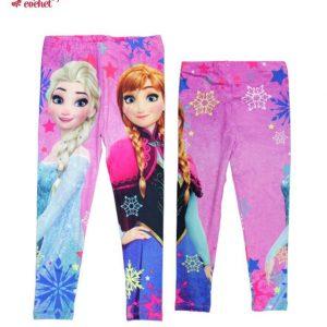 Colanti vatuiti Frozen (roz) 1
