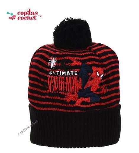 Caciula Spiderman (negru rosu) 1