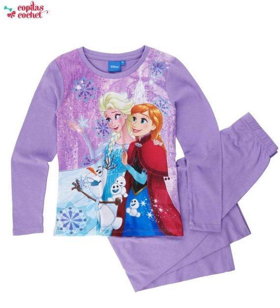 Pijamale Disney Frozen (mov) 1