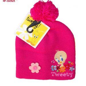 Caciula Tweety (fucsia) 1