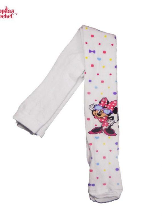 Dresuri Minnie Mouse alb (cu buline colorate) 1