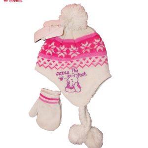 Set caciula+manusi bebe Winnie the Pooh (alb) 1