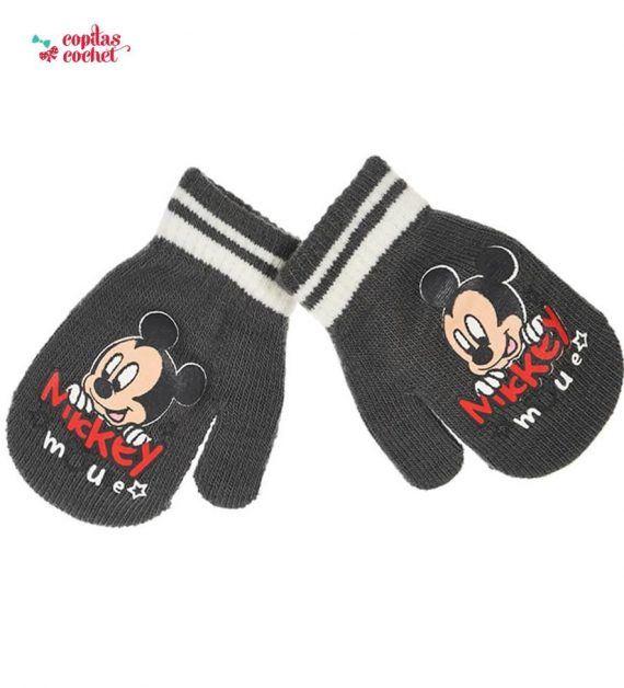 Manusi bebe Mickey Mouse (gri petrol) 1