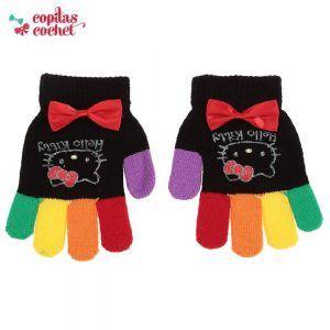 Manusi Hello Kitty (negru) 1