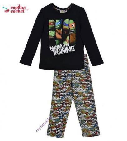 Pijamale Testoasele Ninja (bleumarin-gri)