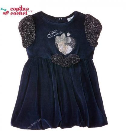 Rochie bebe Minnie Mouse (bleumarin)