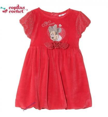 Rochie bebe Minnie Mouse(fucsia)