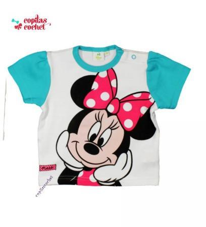 Tricou bebe Minnie Mouse (turcoaz)