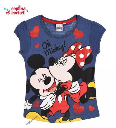Tricou Minnie&Mickey Mouse (bleumarin)