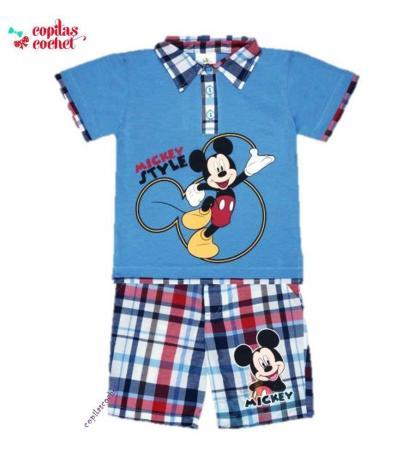 Compleu tricou-bermude Mickey Mouse 1