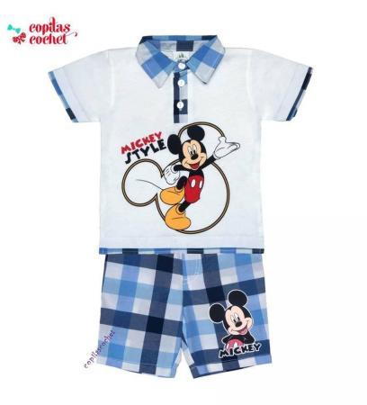 Compleu tricou-bermude Mickey Mouse 2