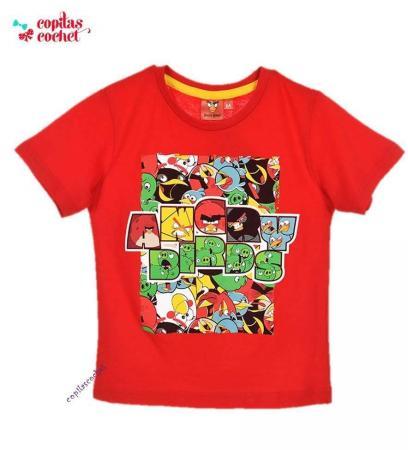 Tricou Angry Birds (rosu)