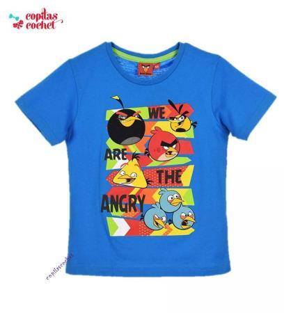 Tricou Angry Birds (albastru)
