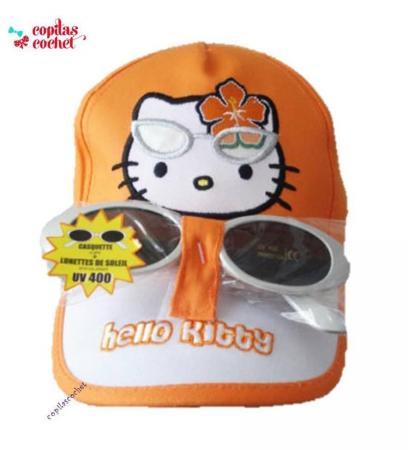 Sapca ochelari de soare Hello Kitty (orange)