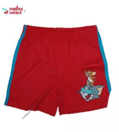 Pantaloni srti Tom&Jerry (rosu)