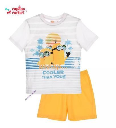 Pijamale de vara Minions (galben)