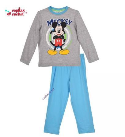 Pijamale Mickey Mouse (gri-turcoaz)