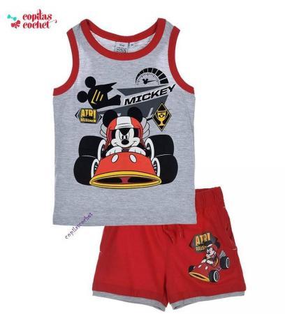 Compleu de vara Mickey Mouse (gri)