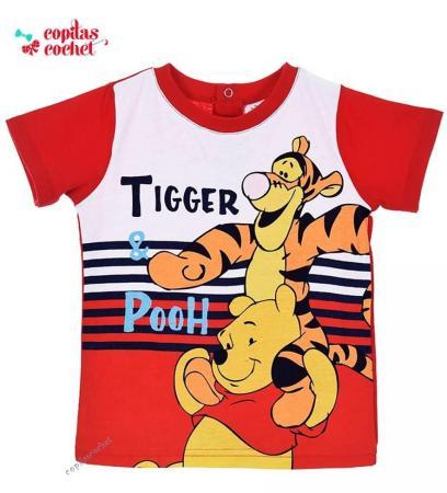 Tricou bebe Winnie the Pooh (rosu)