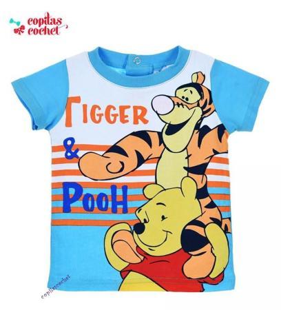 Tricou bebe Winnie the Pooh (bleu)