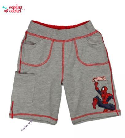 Pantaloni srti Spiderman (gri)