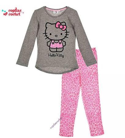 Pijamale Hello Kitty (gri)