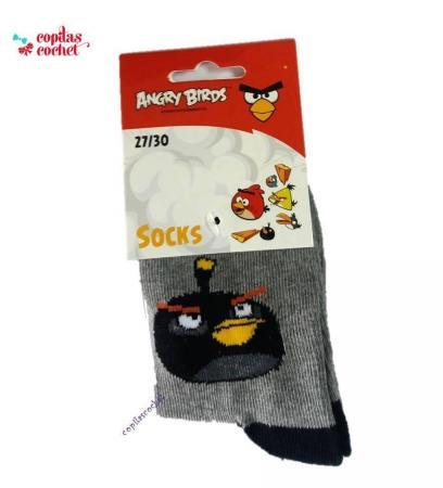 Sosete Angry Birds (gri)