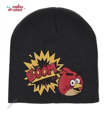 Caciula Angry Birds (gri petrol)