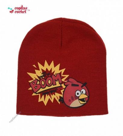 Caciula Angry Birds (rosu)