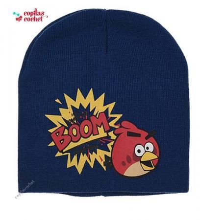 Caciula Angry Birds (bleumarin)